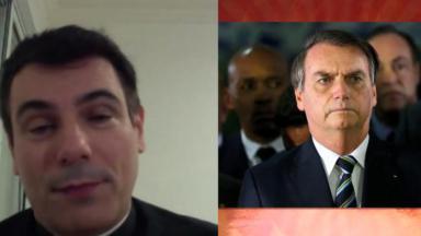 Padre Juarez e Jair Bolsonaro em foto montagem