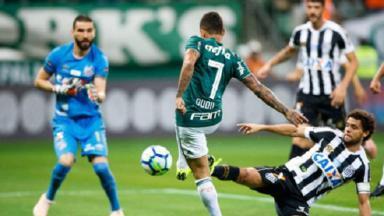 Palmeiras e Santos em campo