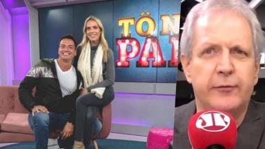 Léo Dias, Lígia Mendes e Augusto Nunes