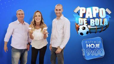 Trio de apresentadores do Papo de Bola