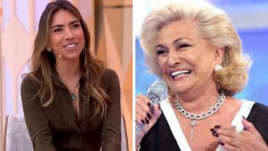Patrícia Abravanel e Hebe Camargo sorrindo