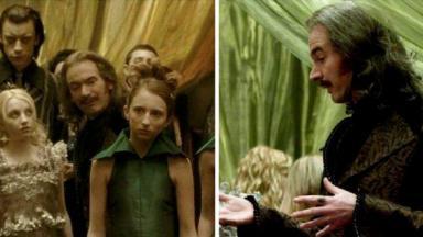 Paul Ritter em cena de Harry Potter