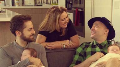 Paulo Gustavo ao lado da sua família