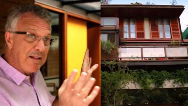 Pedro Bial e sua mansão