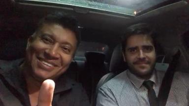 Pedro Manso e seu advogado