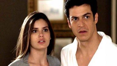 Luiza e Eric em cena de Pega Pega