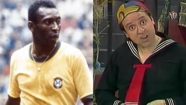 Pelé e Carlos Villagrán