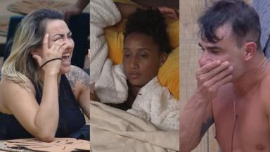 Thayse, Sabrina e Jorge reclamaram do ronco de Rodrigo Phavanello em A Fazenda 11