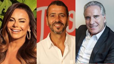 Viviane Araújo, Marcos Palmeira e Roberto Justus