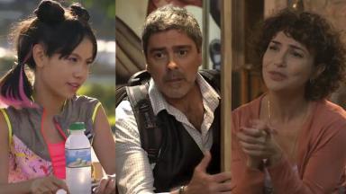 Bella Chiang, Junno Andrade e Amanda Acosta, os atores de Poliana Moça