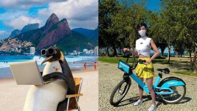 Propagandas do Ponto Frio (à esquerda) e da Magalu (à direita)