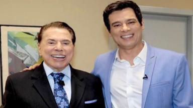 Sílvio Santos e Celso Portiolli