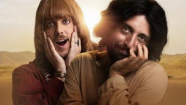 Fábio Porchat e Gregório Duvivier em cartaz da Netflix