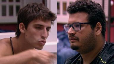 Felipe Prior e Victor Hugo durante o BBB20