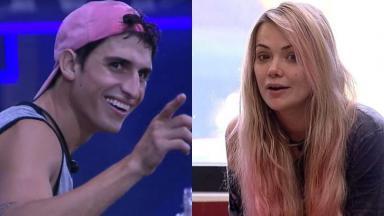 Felipe Prior e Marcela durante o reality show BBB20