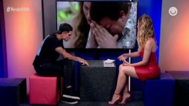 Felipe Prior conversando com Fernanda Keulla
