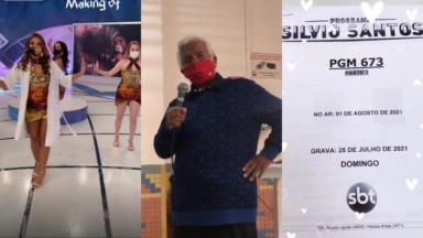 Bailarinas ensaiam de máscara; Roque chora nos bastidores; roteiro do Programa Silvio Santos gravado neste domingo (25)