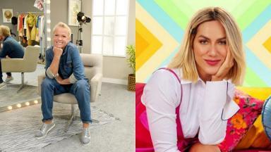 Xuxa (à esquerda) e Giovanna Ewbank (à direita) em foto montagem