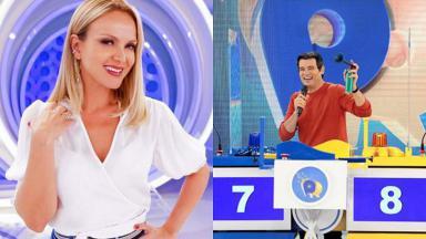 Eliana (à esquerda) e Celso Portiolli (à direita) em foto montagem
