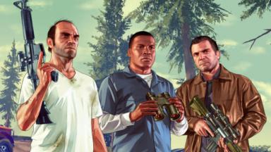 Os três protagonistas de GTA V
