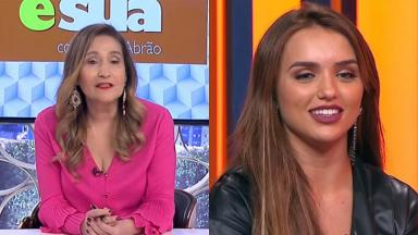 Sônia Abrão (à esquerda) e Rafa Kalimann (à direita) em foto montagem