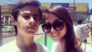 Rafael Miguel e Camilla Miguel juntos