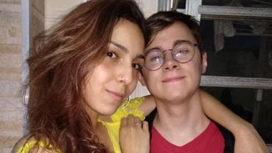 Rafael Miguel e namorada