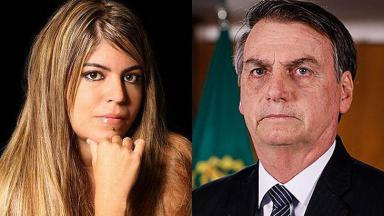 Raquel Pacheco e Jair Bolsonaro