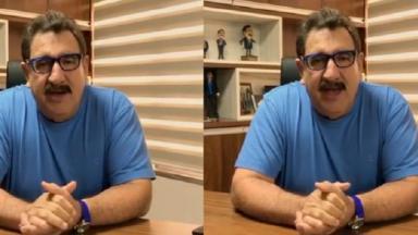 Ratinho gravou vídeo para falar da sua cura da Covid-19
