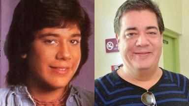 Foto montagem de Ray Reys na época do Menudo (à esquerda) e mais velho (à direita)