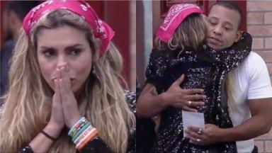 Erika Schneider abraça Mussunzinho em A Fazenda 2021