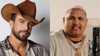 Erasmo Viana, de A Fazenda 2021, e o cantor Kevin O Chris posados