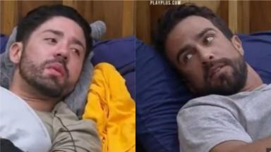 Rico Melquiades e Erasmo Viana, cada um em sua cama, falam sobre o uso de uma substância