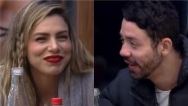 Rico Melquiades e Erika Schneider conversam na cozinha de A Fazenda 2021