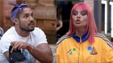 Bil Araújo e Valentina Francavilla batem boca em A Fazenda 2021