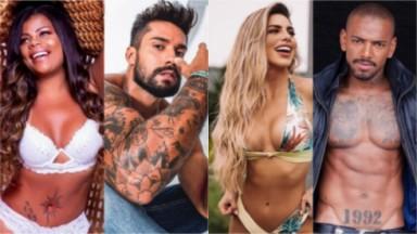 Confirmados em A Fazenda, Tati Quebra Barraco, Arcrebiano Araújo, Erika Schneider e Nego do Borel fazem pose sexy