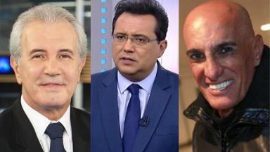 Celso Freitas, Amin Khader e Geraldo Luís