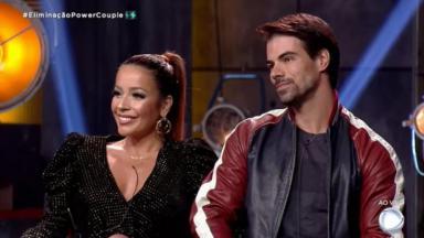 Renata e Leandro em eliminação do Power Couple