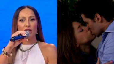 Sabrina Sato (à esquerda) e cena da novela mexicana (à direita) em foto montagem
