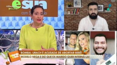 Sônia Abrão sentada e apresentando o A Tarde é Sua