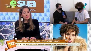 João Gana sendo entrevistado por Lobianco no programa de Sônia Abrão