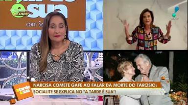 Sônia Abrão e Narcisa no A Tarde é Sua