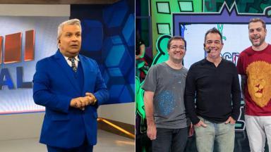 Montagem com o Encrenca e o Alerta Nacional, da RedeTV!