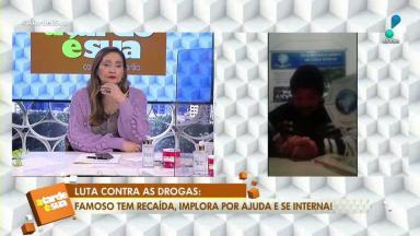 Sônia Abrão e o cantor Sander