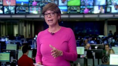 Renata Lo Prete apresentando o Jornal da Globo