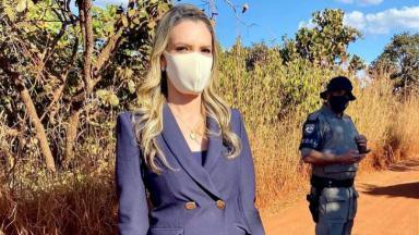 Vanessa Vitória posada durante cobertura do caso Lázaro