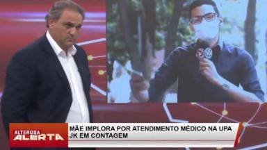 O apresentador Stanley Gusman e o repórter Hiago Rocha no jornalístico Alterosa Alerta, de afiliada do SBT em Minas Gerais