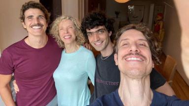 Reynaldo Gianecchini, Marilia Gabriela, Fabricio Santana e Theodoro Cochrane