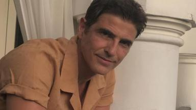 Reynaldo Gianecchini exibe varanda