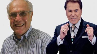 Ricky Medeiros e Silvio Santos em foto montagem